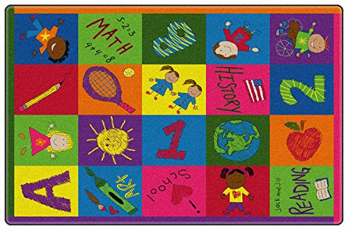 Primary Pictures Kids Area Rug 3'x5'