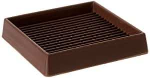 Shepherd Hardware 9078 3-Inch Square Rubber Furniture Cups, 2-Pack