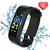TFMark Fitness Tracker Waterproof Fitness Watch Color Screen with Heart Rate Exercise Activity