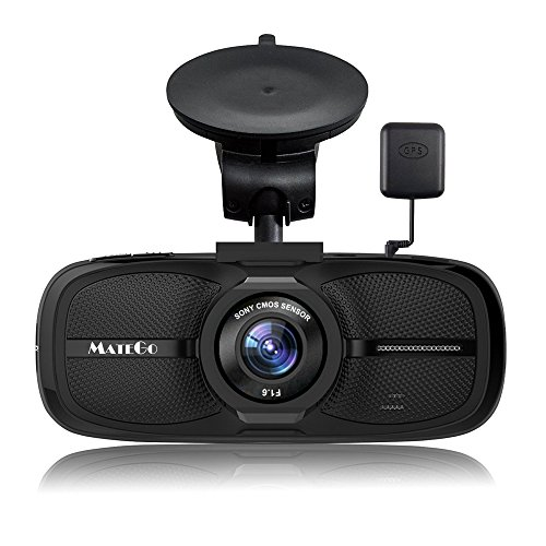 Matego Dash Camera With Gps 1080P Fhd Dash Cam Car Camera With Night Vision 170 Degree Viewing Angle Lens 2 7 Inch Lcd Screen G Sensor
