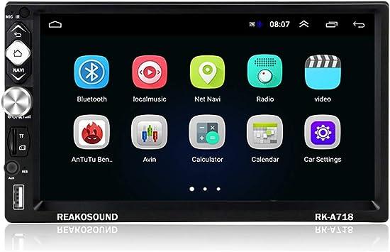 2 DIN Android Radio Coche GPS CAMECHO 7 Pulgadas Pantalla táctil capacitiva Bluetooth WiFi USB SD AUX FM Estéreo de Automóvil Mirror Link + cámara Trasera: Amazon.es: Electrónica