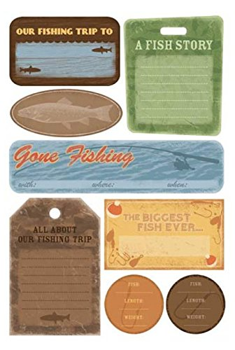 Karen Foster Cardstock Stickers 5-1/2 Inch by 9 Inch, Fishing Trip Journal (Karen Foster Journal)