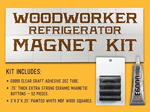 "REFRIGERATOR MAGNET KIT. With e6000 glue clear, 52pcs ceramic magnetic buttons like neodymium magnets for crafts and 3"" wood slices for crafts. Use pyrography kit & pyrography tools. Not e600 - One Map Square Stores"