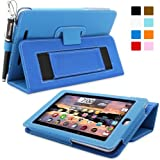Nexus 7 Case, Snugg™ - Smart Cover with Flip Stand & Lifetime Guarantee (Electric Blue Leather) for Nexus 7