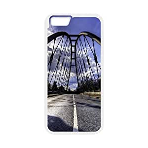 IPhone 6 Cases Road Bridge, IPhone 6 Cases Bridge for Girls, [White]