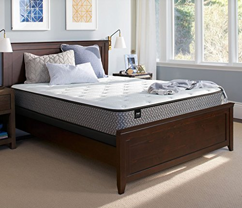 Sealy Response Essentials 11-Inch Cushion Firm Tight Top Mattress, Queen, Made in USA, 10 Year Warranty (Cushion Firm Mattress Set Queen)