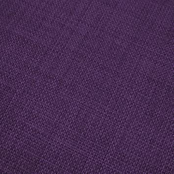 Textured Linen Effect Fabric 1 Metre, High Quality Polyester Material in  Purple