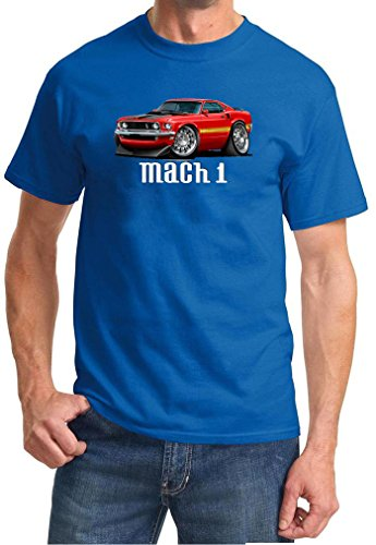 1969 Ford Mach 1 Mustang Full Color Design Tshirt 2XL -