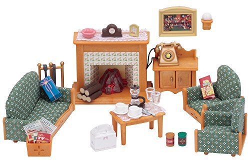 Calico Critters Deluxe Living Room Set (Doll Furniture Set)