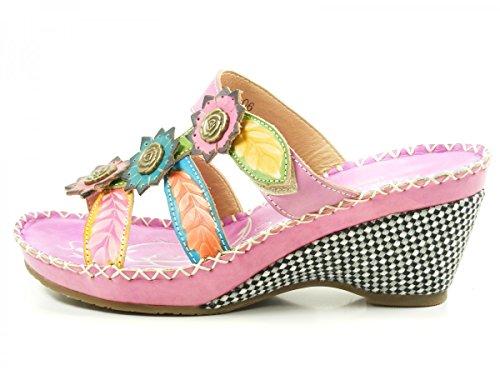 Laura Vita YF9919-6 Berault 06 Zuecos fashion de cuero mujer Lila