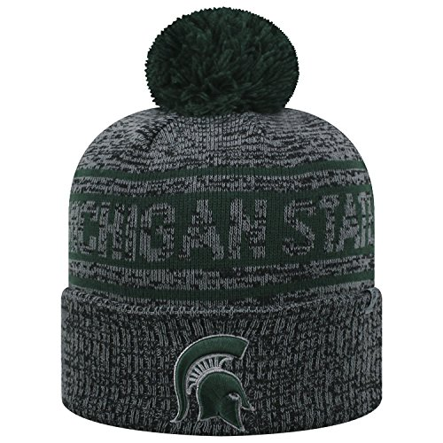 Top of the World Michigan State Spartans Official NCAA Cuffed Knit Sockit to Me Stocking Stretch Sock Hat Cap 468785 (Michigan State Stocking Cap)