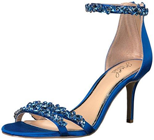 Jewel Badgley Mischka Women's Caroline Dress Sandal, Blue, 5.5 M US