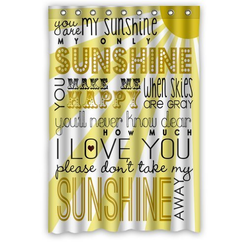 Custom You Are My Sunshine Waterproof Fabric Bathroom Shower Curtain  48u0026quot;(w) X