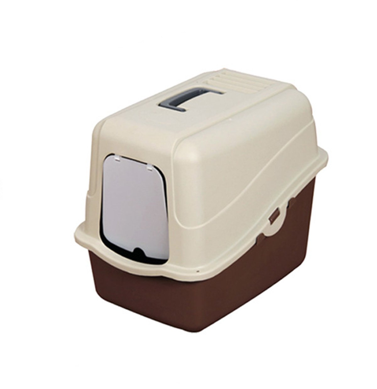 Large Pet Hooded Cat Litter Box Pan Set