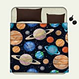 Galaxy throw blanket Cute Galaxy Space Art Solar System Planets Mars Mercury Uranus Jupiter Venus Kids Printmiracle blanket Multi
