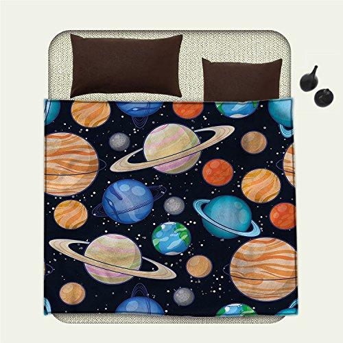 Galaxy throw blanket Cute Galaxy Space Art Solar System Planets Mars Mercury Uranus Jupiter Venus Kids Printmiracle blanket Multi by smallbeefly