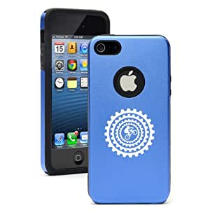 Apple iPhone 5 5S Blue 5D3845 Aluminum & Silicone Case Cover Bike BMX Mountain Gears wangjiang maoyi