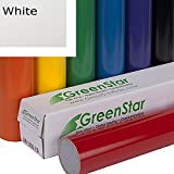 GreenStar 12in x 5yd Permanent Adhesive-Backed Vinyl for Craft Cutter, White
