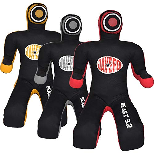 Jayefo Beast 3.2 MMA Grappling Dummy Brazilian JIU Jitsu Submission Grappling Dummy Sitting Dummy Wrestling Dummy (Black/RED, 6 FT)