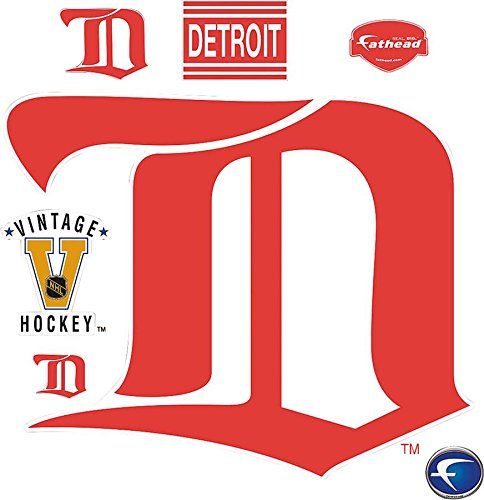 Detroit Red Wings Classic Logo Wall Decal 47 x 39in