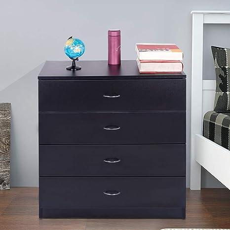 Amazon.com: Binlin - Cómoda con 4 cajones, armario de noche ...