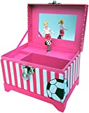 Just Like Me Soccer Player Musical Jewelry Box (Blonde Hair Figurine)