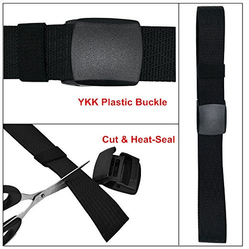 WYuZe Nylon Web Belt Outdoor Men's Military Webbing Belt Plastic Buckle Tactical