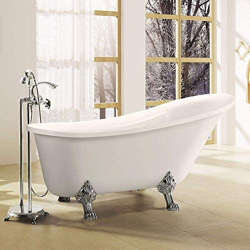 Vanity Art Pantin Acrylic Clawfoot Freestanding Bathtub