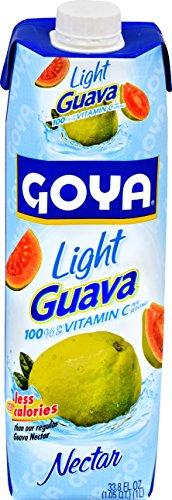 Goya Foods Light Guava Nectar, 33.8 Fluid Ounce (Pack of - Latin In Nectar