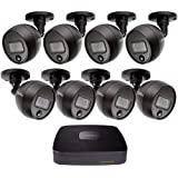 New Q-See QC918B-4FJ-1 8 Channel 1080p Analog Digital Security System with 1TB Pre-installed HDD DVR & 8 x 1080p PIR Surveillance Cameras ; Smartphone Viewing Capabilities