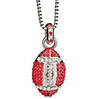 Sports Novelties Football Necklace, Red/White
