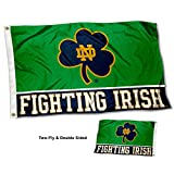 College Flags and Banners Co. Notre Dame Fighting Irish Shamrock Double Sided Flag