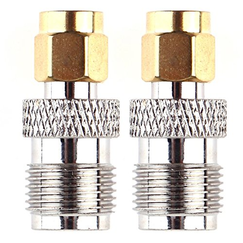 Tnc Connection - Value-Home-Tools - 2pcs RF Connectors Coaxial Coax Adapter RP-SMA Male to RP-TNC Female Connector Connection tool