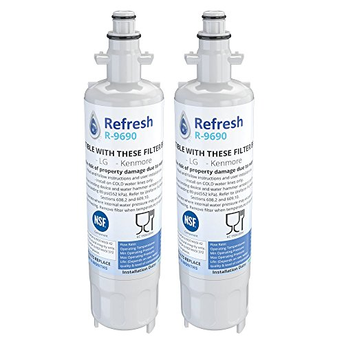 Refresh Replacement Refrigerator Water Filter Compatible wit