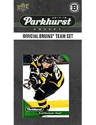 Boston Bruins 2017 2018 Upper Deck PARKHURST Series Factory Sealed 10 Card Team Set including Zdeno Chara, Patrice Bergeron, Tuukka Rask, an EXCLUSIVE Bruins team card plus plus
