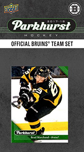 (Boston Bruins 2017 2018 Upper Deck PARKHURST Series Factory Sealed 10 Card Team Set including Zdeno Chara, Patrice Bergeron, Tuukka Rask, an EXCLUSIVE Bruins team card plus plus)