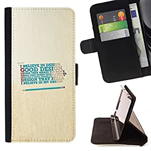 Momo Phone Case / Flip Funda de Cuero Case Cover - Believe In Good Design;;;;;;;; - Huawei Ascend P8 (Not for P8 Lite)