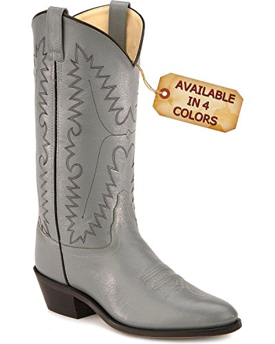 Old West Men's Smooth Leather Cowboy Boot