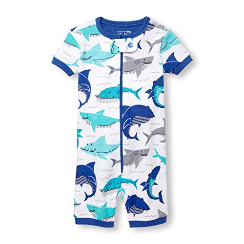 The Childrens Place Baby Boys Short Sleeve Printed Stretchie
