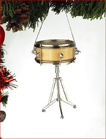 Snare Drum Musical Instrument Ornament 3.5 inches by Broadway Gift