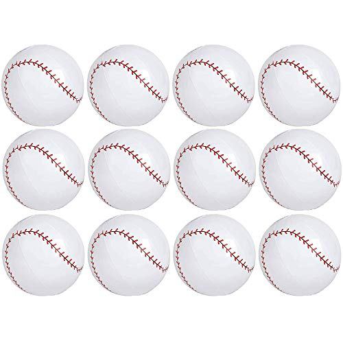 - Kicko 9 Inch Inflatable Baseball Toy - 12 Pieces of Squishy and Bouncy Ball - Party Bag Fillers, Gifts,, Decorations, Perfect All-Season Outdoor, and Indoor Games - Beach or Park