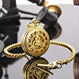 Pocket Watch Chain Albert T-Bar Lobster Buckle Gold