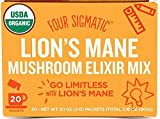 Four Sigmatic Organic Mushroom Elixir Mix with Lions Mane and Antioxidants for Concentration + Focus, Vegan, Paleo, Gluten Free, 0.1 Ounce (20 Count)