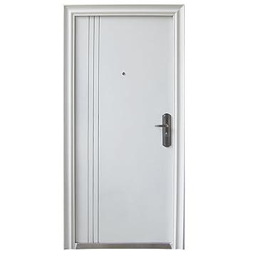 Haustur Tur Sicherheitstur Wohnungstur Hausturen 96x205cm Weiss Din