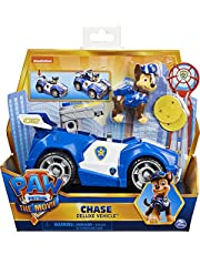 PAW PATROL Chase's Deluxe Movie Transforming Toy Car with Collectible Action Figure, Kids' Toys for Ages 3 and up
