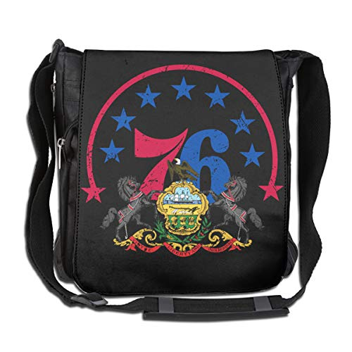 XIVEIER Personalized Pennsylvania Flag 76 Players Basketball Geek Casual Bags For Men's ()