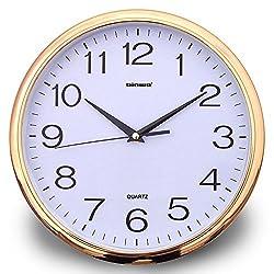 Wall Clock, Binwo 2nd Generation Modern Stylish Elegant Silent Non-ticking Home Kitchen Living Room Wall Clock 12 Inch