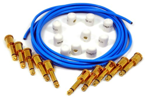 - George L's Effects Kit (Blue Cable, Gold Right Angle Plugs)