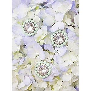 Wedding DIY Floral Brooch Bouquet Stems- IVORY, PEACH, MINT 62