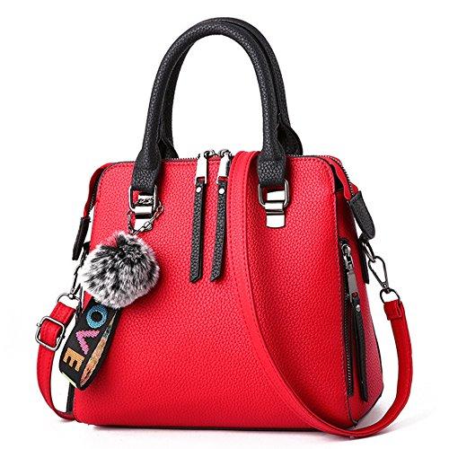 Bags Women Messenger Purses Satchel Red Tote Bag Handbags Large Ladies Purses frTfqzxn